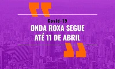 POÇOS DE CALDAS SEGUE NA ONDA ROXA ATÉ 11/04