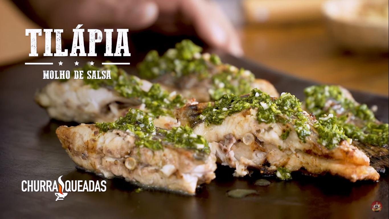 Tilápia na Brasa com Molho de Salsa e Limão | Churrasqueadas
