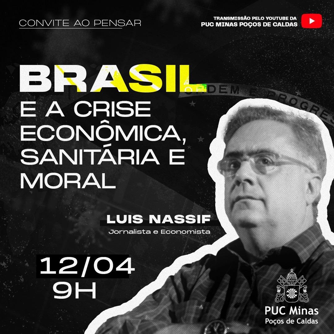 PUC Minas Poços de Caldas recebe Luis Nassif no Convite ao Pensar