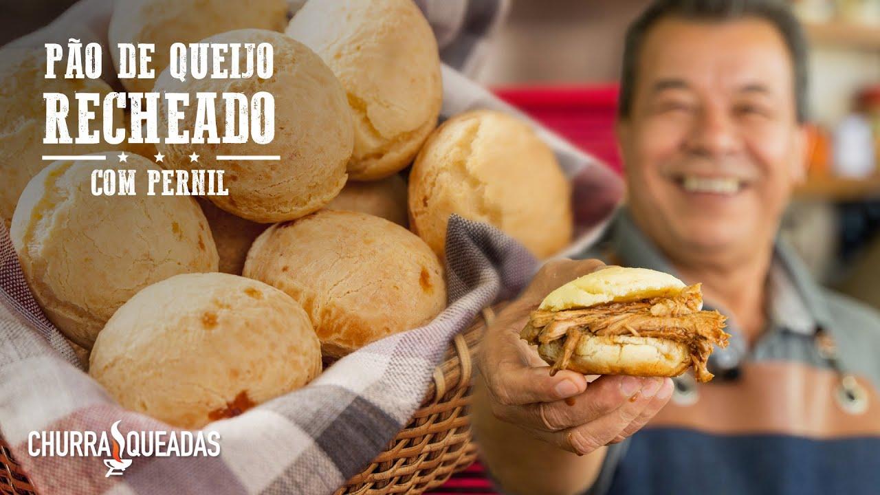 Pão de Queijo Recheado com Pernil-Churrasqueadas
