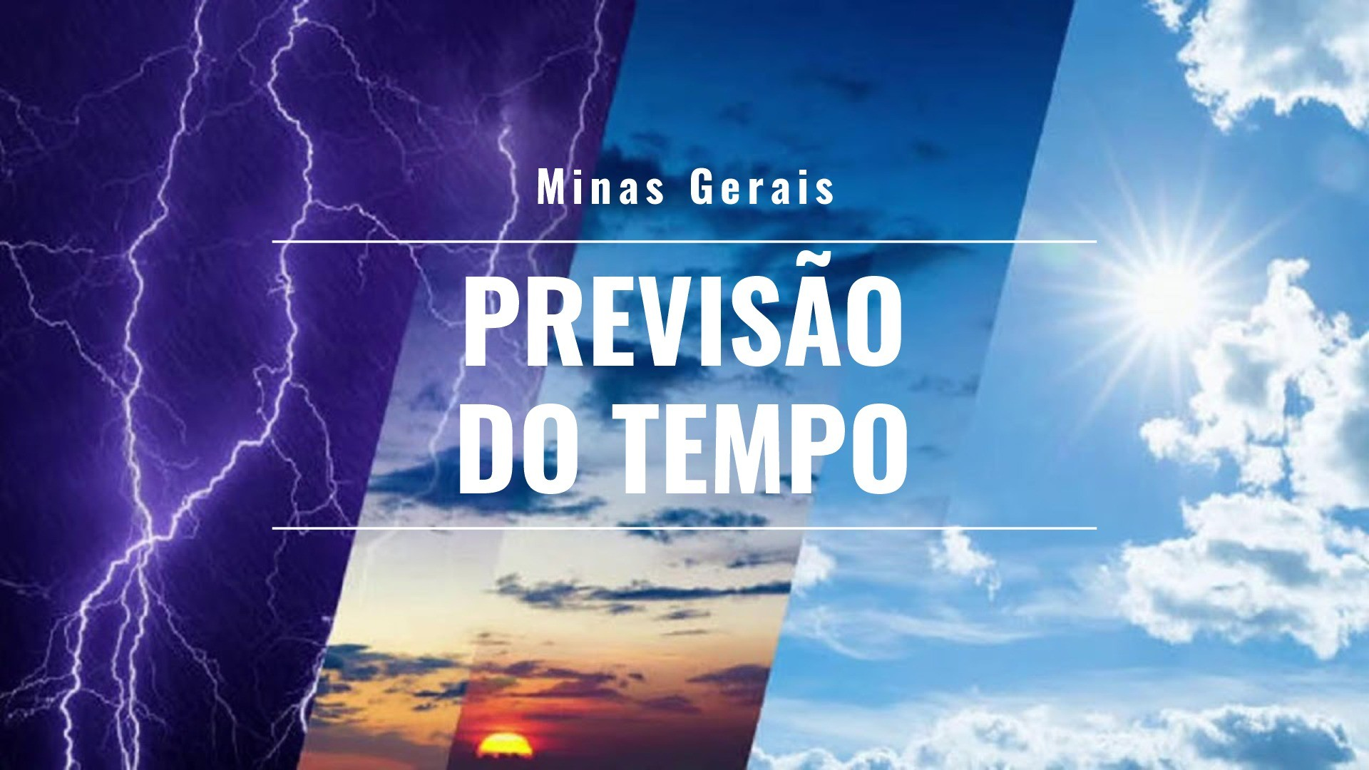 Previsão do tempo para Minas Gerais nesta segunda-feira, 20 de setembro